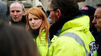 Ingrid Levavasseur le 15 janvier 2019 à Grand Bourgtheroulde [CHARLY TRIBALLEAU / AFP/Archives]