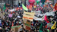 Manifestation contre la réforme des retraites, à Paris, le 5 décembre 2019 [Thomas SAMSON / AFP/Archives]