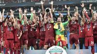 La joie des joueurs de Liverpool vainqueurs de la Supercoupe d'Europe aux tirs au but contre Chelsea, le 14 août 2019 à Istanbul [OZAN KOSE / AFP]