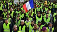 Des gilets jaunes participent à une manifestation à Rochefort, le 24 novembre 2018 [XAVIER LEOTY / AFP/Archives]