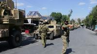 Des troupes de sécurité afghanes à Farah, après sa prise de contrôle sur les talibans. Le 19 mai 2018. [HAMEED KHAN / AFP]