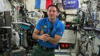 L'astronaute français Thomas Pesquet, le 30 mai 2017 à bord de la Station spatiale internationale (ISS) [STR / EUROPEAN SPACE AGENCY/AFP]