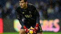 Le gardien de but espagnol du FC Porto Iker Casillas contre le Maritimo Funchal en Championnat du Portugal, le 15 décembre 2016 à Porto [MIGUEL RIOPA / AFP/Archives]