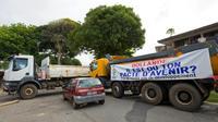 Barrage à Cayenne, le 26 mars [Jody AMIET / AFP/Archives]