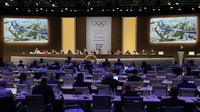 Réunion de la commission de coordination des JO de Paris-2024 à Buenos-Aires le 8 octobre 2018 [JUAN MABROMATA / AFP]