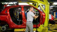 Une chaîne de montage à l'usine Renault le 24 février 2016 à Novo Mesto en Slovénie [Jure Makovec/AFP / AFP/Archives]