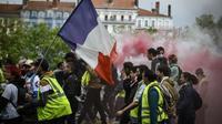 """Manifestation de """"gilets jaunes"""" à Lyon, le 11 mai 2019 [JEAN-PHILIPPE KSIAZEK / AFP/Archives]"""