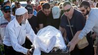 Funérailles de l'Israélien Ido Ben Aryeh, 42 ans, tué dans une attaque perpetrée par deux Palestiniens à Tel Aviv, au cimetière de Yavne, dans le sud d'Israël le 9 juin 2016 [JACK GUEZ / AFP]