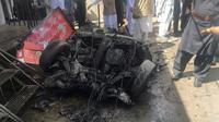 Photo prise le 31 mars 2017 du site de l'attentat taliban sur le marché de Parachinar, capitale de la zone tribale de Kurram, une zone majoritairement chiite du nord-ouest du Pakistan [- / AFP]