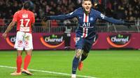 L'attaquant du PSG Mauro Icardi marque le but de la victoire à Brest, le 9 novembre 2019   [Damien MEYER / AFP]