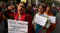 Manifestation contre le viol à Calcutta, le 3 janvier 2014 en Inde [Dibyangshu Sarkar / AFP/Archives]