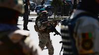Des forces de sécurité afghanes à Kaboul le 25 mars 2014 [Roberto Schmidt / AFP/Archives]
