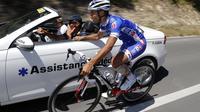 Nacer Bouhanni (FDJ.fr) a abandonné le Tour de France au cours de la 6e étape, jeudi, entre Aix-en-Provence et Montpellier [JOEL SAGET / AFP]