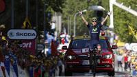 Le Portugais Rui Costa (Movistar) à l'arrivée de la 16e étape du Tour de France, le 16 juillet 2013 à Gap [Pascal Guyot / AFP]