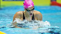 La nageuse russe Yulia Efimova lors des qualifications du 200m brasse des Championnats d'Europe de natation en petit bassin d'Herning (Danemark), le 13 décembre 2013 [Henning Bagger / Scanpix Denmark/AFP/Archives]