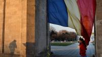 Un drapeau moldave flotte dans la captitale Chisinau, le 20 mars 2014 [Daniel Mihailescu / AFP/Archives]
