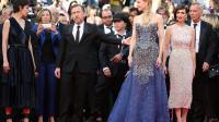 L'actrice française Jeanne Balibar(g), l'acteur britannique Tim Roth, l'actrice australienne Nicole Kidman et l'actrice espagnole Paz Vega (d) à leur arrivée à la cérémonie d'ouverture du festival de Cannes, le 14 mai 2014 [Loic Venance / AFP]