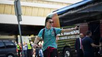 L'attaquant portugais Cristiano Ronaldo, le 2 juin 2014 à l'aéroport de Lisbonne [Patricia De Melo Moreira / AFP]