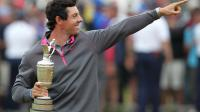 Le Nord-Irlandais Rory McIlroy, N.1 mondial en golf, après avoir remporté l'Open britannique le 20 juillet 2014 à Liverpool [ / AFP/Archives]