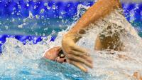 Le Français Yannick Agnel lors de la finale du 200 m nage libre, où il a fini 3e, le 20 août 2014 aux Championnats d'Europe à Berlin [John MacDougall / AFP]
