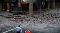 Un séisme demagnitude 6 a frappé le Nord de la Californie, ici à Napa le 24 août 2014 [Justin Sullivan / Getty/AFP]