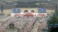 La foule assiste à la messe de béatification du pape François à Séoul, le 16 août 2014 [Korea Pool / Korea Pool/AFP]