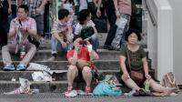 Des touristes chinois à Hong-Kong, le 2 octobre 2013 [Phillipe Lopez / AFP]
