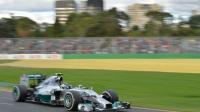 L'Allemand Nico Rosberg en piste le 16 mars 2014 lors du Grand Prix de Formule 1 d'Australie à Melbourne [Paul Crock / AFP/Archives]