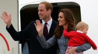Le Prince William (g), son épouse Catherine et leur fils George, à Canberra, le 25 avril 2014 [Saeed Khan / AFP/Archives]