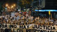Des proches de victimes de la dictature en Uruguay défilent, le 20 mai 2013 à Montevideo [Miguel Rojo / AFP/Archives]