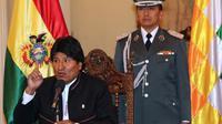 Le président bolivien Evo Morales en conférence de presse à La Paz, en Bolivie, le 19 juillet 2013 [Aizar Raldes Nunez / AFP/Archives]