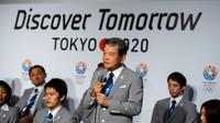 L'ancien joueur de foot japonais Saburo Kawabuchi répond aux questions de la presse sur la candidature de Tokyo pour les JO-2020, le 5 septembre 2013 à Buenos Aires [Fabrice Coffrini / AFP]