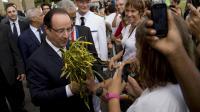 Le président français Fraçois Hollande à son arrivée en Guyane, à Remire-Montjoly le 13 décembre 2013 [Alain Jocard / AFP]