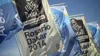 Les drapeaux du Dakar avant le départ de Rosario le 3 janvier 2014 à Rosario [Franck Fife / AFP]
