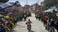 Le motard espagnol Joan Barreda remporte la 7e étape du rallye-raid Dakar-2014 le 12 janvier 2014 à Uyuni en Bolivie [ / AFP]