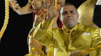 L'ex-attaquant brésilien Ronaldo prend part au défilé d'une école de samba au Carnaval de Sao Paulo, le 1er mars 2014 [Nelson Almeida / AFP]