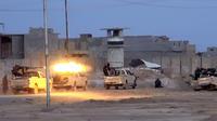 Image tirée le 9 juin 2014 du site internet jihadiste Welayat Salahuddin montrant des combattants jihadistes à Samara [- / Welayat Salahuddin/AFP]