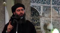 Capture d'écran d'une vidéo de propagande diffusée le 5 juillet 2014 montrant Abou Bakr Al-Baghdadi, le chef de l'Etat islamique (EI) [ / Al-Furqan Media/AFP/Archives]