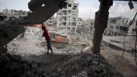 Un immeuble détruit dans le quartier al-Tufah de la bande de Gaza, le 6 août 2014 [Mahmud  Hams / AFP/Archives]
