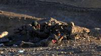 Des peshmergas prennent position à Makhmur (280 km au nord de Bagdad), lors d'affrontements avec des jihadistes de l'EI, le 9 août 2014 [Safin Hamed / AFP]