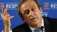 Le président de l'UEFA Michel Platini le 22 février 2014 à Nice [ / AFP/Archives]