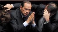 Silvio Berlusconi (C) à Rome, le 14 septembre 2013 [Alberto Pizzoli / AFP/Archives]