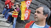 Des salariés du groupe Michelin manifestent le 19 juin 2013 à Clermont-Ferrand [THIERRY ZOCCOLAN / AFP]