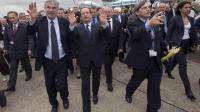 François Hollande, le 21 juin 2013, au salon du Bourget [IAN LANGSDON / POOL/AFP]
