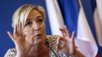 La présidente du Front national, Marine Le Pen, en conférence de presse le 10 juillet 2013 à Paris [Kenzo Tribouillard / AFP/Archives]