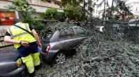 Les dégâts à Nice le 29 juillet 2013, après de violents orages [Valéry Hache / AFP]