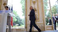 Le Premier ministre Jean-Marc Ayrault (c) lors d'une conférence de presse, le 27 août 2013 à Paris [Kenzo Tribouillard / AFP]