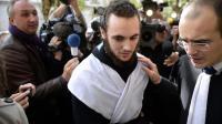 Mickaël Khiri, le 20 septembre 2013 à la sortie du tribunal de Versailles [Martin Bureau / AFP/Archives]
