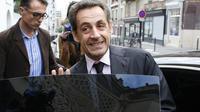 L'ancien président de la République Nicolas Sarkozy, le 7 octobre 2013 à la Mosquée de Paris [Thomas Samson / AFP]