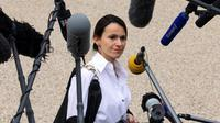La ministre de la Culture et de la Communication Aurelie Filippetti, le 9 octobre 2013 à sa sortie de l'Elysée [Patrick Kovarik / AFP/Archives]